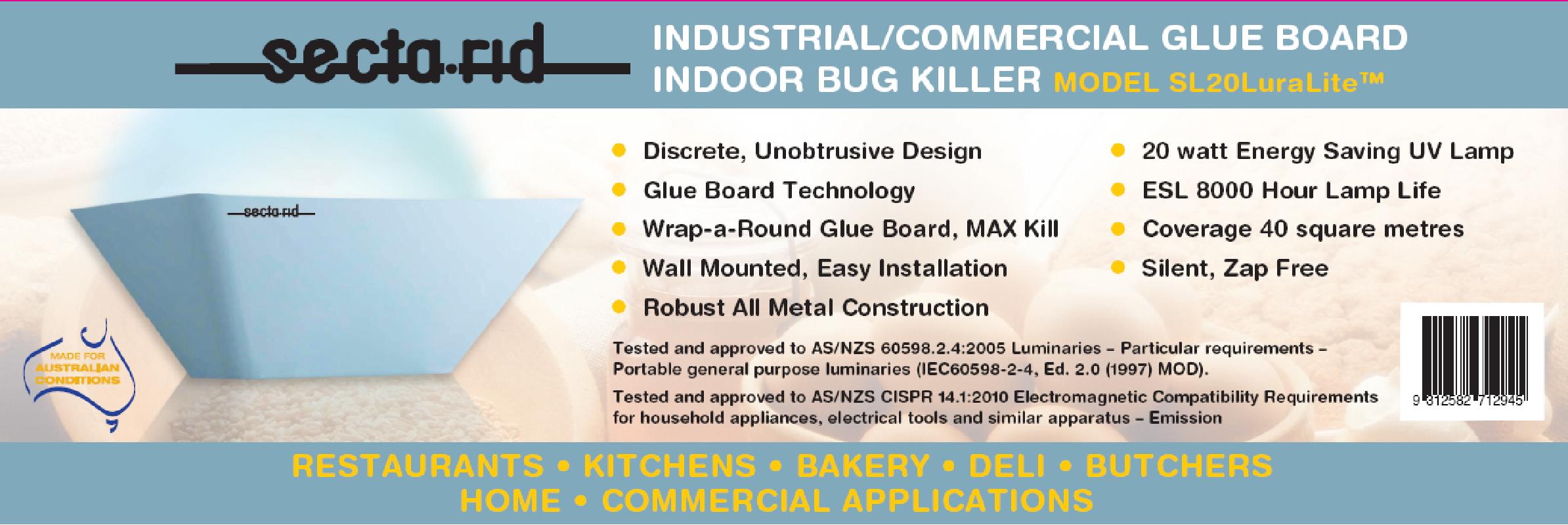 SR20 Luralite Commercial Glue Board Fly Trap